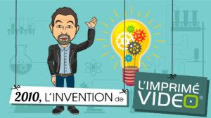 écran d'animation pour cocktail d'impressions - présentation du produit l'Imprimé Video®