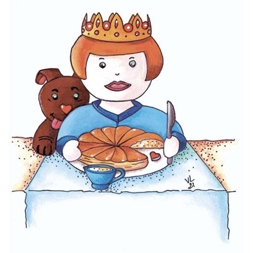 création originale illustration gouache ©Lesaché/ninipotes thème galette des rois
