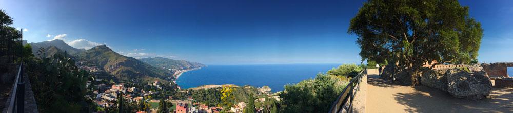 photo sicile taormine vue panoramique